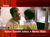 Rahul Gandhi takes a Metro Ride on 22nd Aug 2009