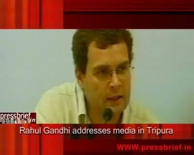 Rahul Gandhi in Tripura, 6th October 2009
