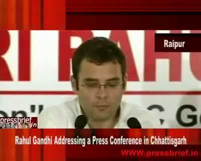 Rahul Gandhi in Chhattisgarh 21st  August 2009
