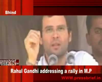 Rahul Gandhi in M.P (Bhind) 26th April 2009