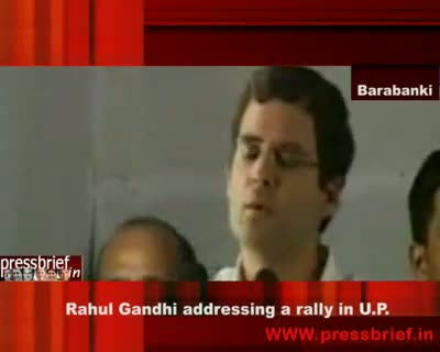 Rahul Gandhi in UP Barabanki 27 April 09