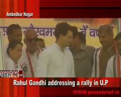 Rahul Gandhi in Ambedkar nagar 14th April 2010 Part 1st
