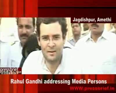 Rahul Gandhi in Amethi 17th July 2009