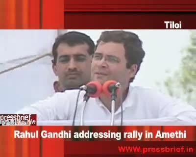 Rahul Gandhi in Amethi (Tiloi) UP, 18th  April 2009