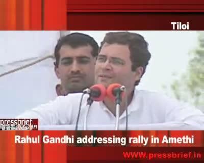 Rahul Gandhi in Amethi (Tiloi) UP, 18th  April 2009