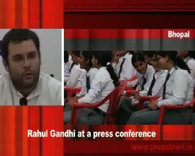 Rahul Gandhi in Bhopal 19th January 2010(Part 1)