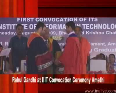 Rahul Gandhi at IIIT Convocation Ceremony 19 Aug 2009 Part 1