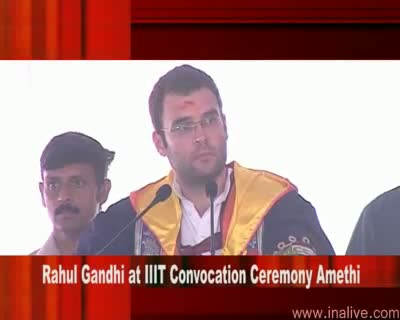 Rahul Gandhi at IIIT Convocation Ceremony 19 Aug 2009 Part 2