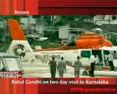 Rahul Gandhi in karnataka,13th August 2010