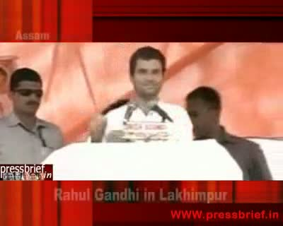 Rahul Gandhi in Lakhimpur 20th April 2009  Part 1st