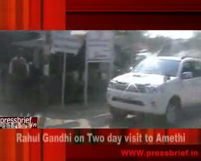 Rahul Gandhi in Amethi 28th Jan.2010