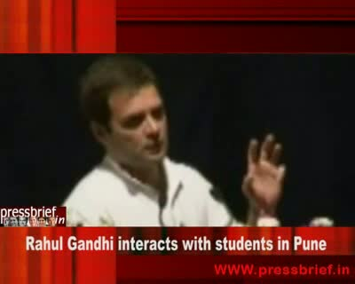 Rahul Gandhi interacts with students in Pune,7th September 2010