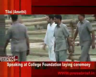 Rahul Gandhi Speaking at College in Amethi, 18th Aug 2009