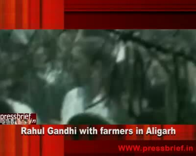 Rahul Gandhi with farmers, 21st August 2010