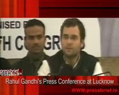 Rahul Gandhi PC at Lucknow (U.P), 08th December 2009