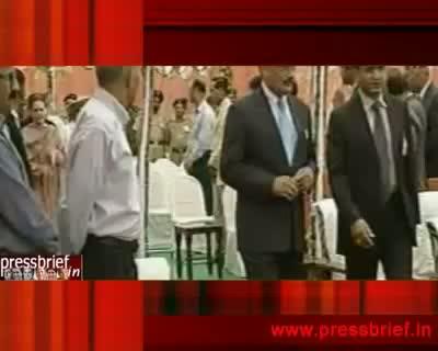 Sonia Gandhi lays tunnel Foundation.28th June 2010