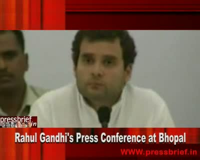 Rahul Gandhi in Bhopal (MP) Part 02,6th October 2010