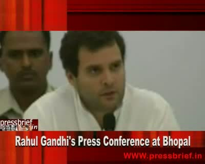 Rahul Gandhi in Bhopal (MP) Part 03,6th October 2010