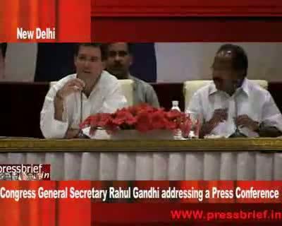 Rahul Gandhi at Press Conference 5th may 2009 Part 01