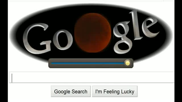 Total Lunar Eclipse Google Doodle ( 6 sec Secret)