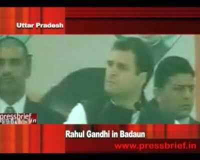 Congress General Secretary Rahul Gandhi in Badaun(U.P), 14th December 2011