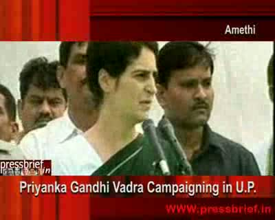 Priyanka Gandhi Vadra Campaigning in Amethi( UP ), 13th April 2009