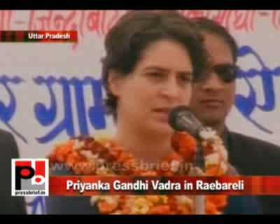 Priyanka Gandhi Vadra while campaigning in Raebareli on 11th February 2012 requested the people to support congress and help it form a pro-poor Government in the state of Uttar Pradesh. Priyanka Gandhi said that a Congress Government will protect the righ