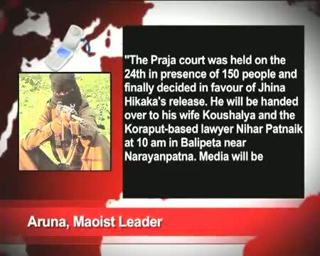 Maoists release BJD MLA Jina Hikaka