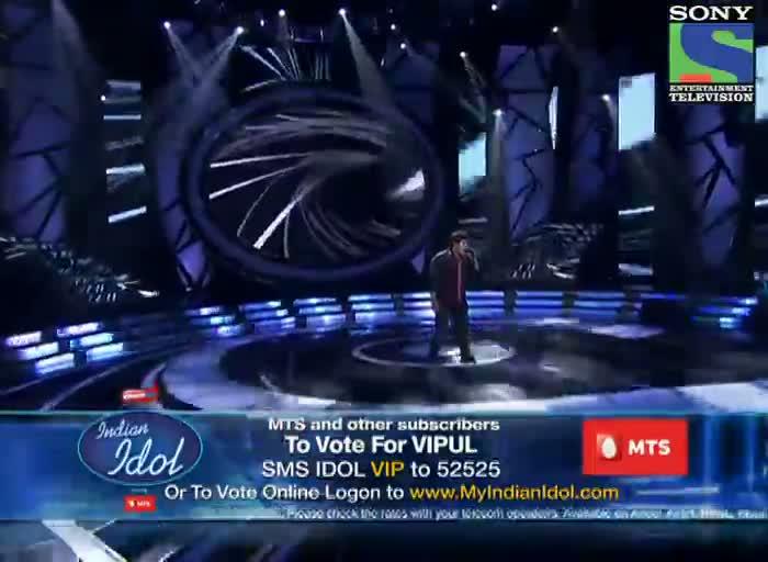 INDIAN IDOL SEASON 6 - EPISODE 13 - BEST PERFORMANCES - VIPUL MEHTA SINGING 'MAIN HOON JHOOM JHOOM JHUMROO'  - 13TH JULY 2012
