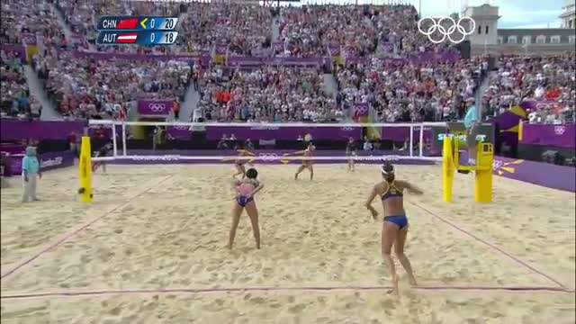 Beach Volleyball Women's Quarterfinals - China v Austria - London 2012 Olympic Games Highlights