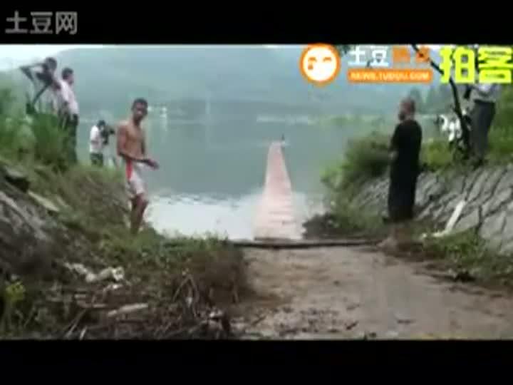 Shaolin Monks Do The Water Drift Stunt