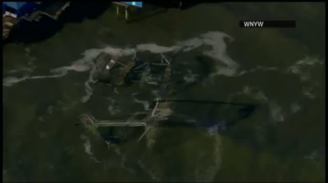 Raw - Sandy Throws Roller Coaster Into the Ocean