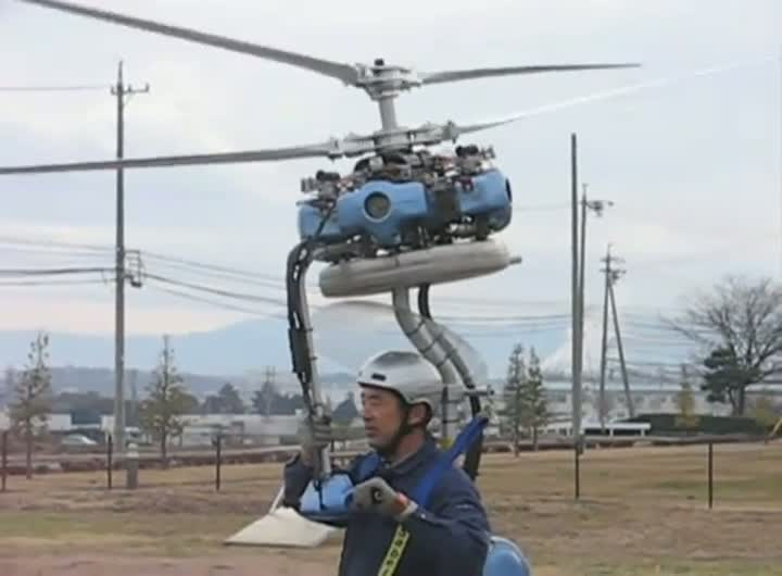 Worlds Smallest One-Man Helicopter
