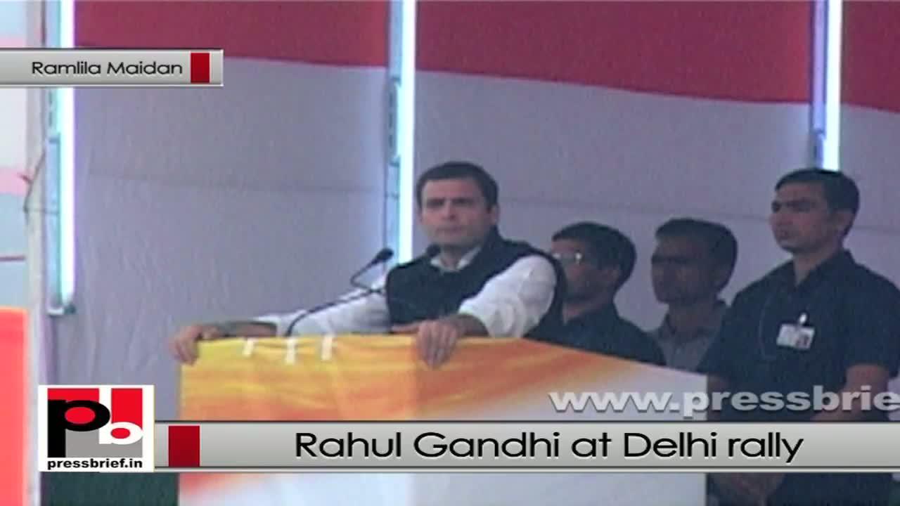 Rahul Gandhi in Delhi: Opposition always tried to halt Congress' welfare policies