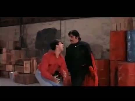 Andaz Apna Apna - Comedy Scene - Crime Master GoGo Fight Scene