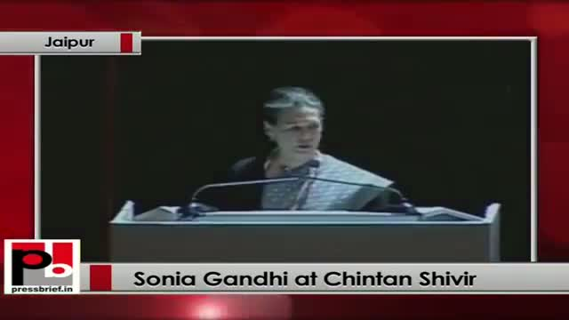 Sonia Gandhi at Congress' Chintan Shivir expresses her concern over unemployment