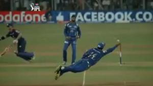 Ricky Ponting Amazing Catch - MI vs DD - IPL 6