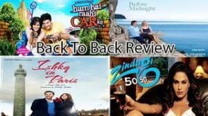 """Back to Back Movie Review """"Ishkq In Paris"""" """"Before Midnight"""" """"Zindagi 50 50"""" """"Hum Hai Rahi Car Ke"""""""