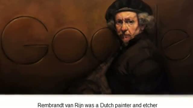 Rembrandt van Rijn - Google Doodle - Rembrandt van Rijn's 407th Birthday