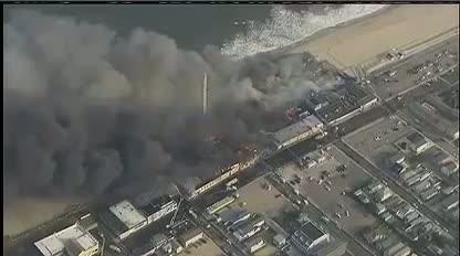 BREAKING: Firefighters Battling 6-Alarm Boardwalk Blaze In Seaside Park, NJ