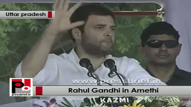 Rahul Gandhi in Amethi at foundation stone of Mega food park in Jagdishpur (Amethi)