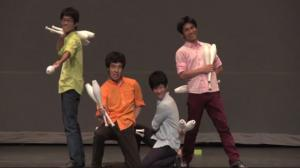 Mind-Blowing Juggling Act At Talent Show
