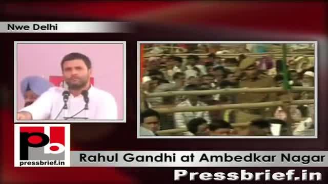 Rahul Gandhi addresses election rally at Ambedkar Nagar (New Delhi)