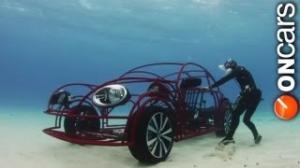 Volkswagen Beetle Convertible shark cage unveiled