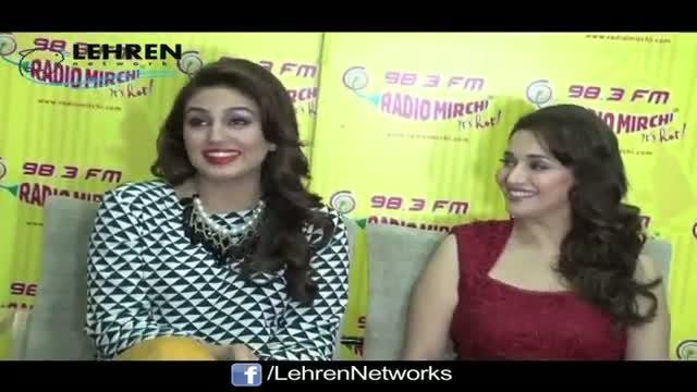 Madhuri & Huma @ Radio Mirchi | Dedh Ishqiya