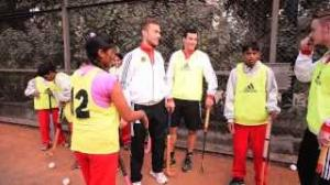German team and the Hockey Village Kids at the German Embassy New Delhi