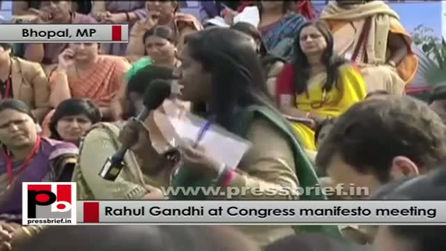 Rahul Gandhi interacts with women representatives on Congress Manifesto part 01