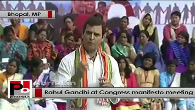 Rahul Gandhi interacts with women representatives on Congress Manifesto part 04