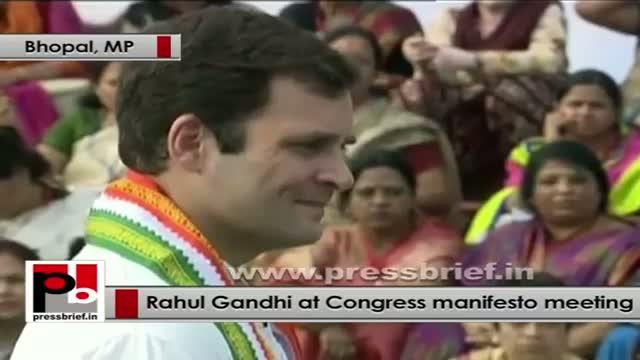 Rahul Gandhi interacts with women representatives on Congress Manifesto part 05