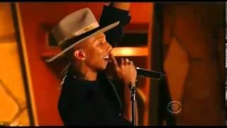 Pharrell Williams, Stevie Wonder and Daft Punk Grammy's Performance 2014 HD Video